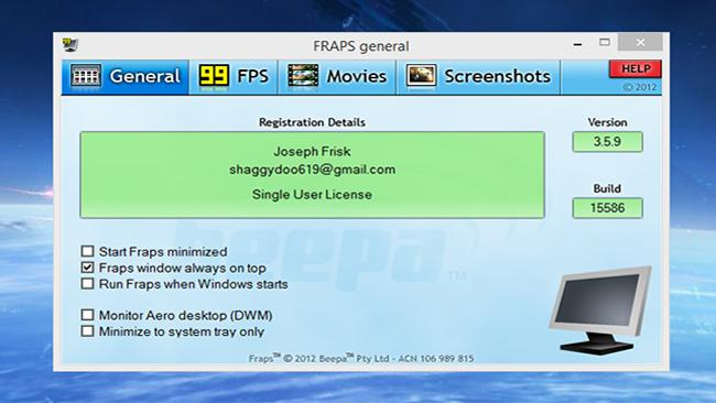 Fraps PC Latest Version Free Download