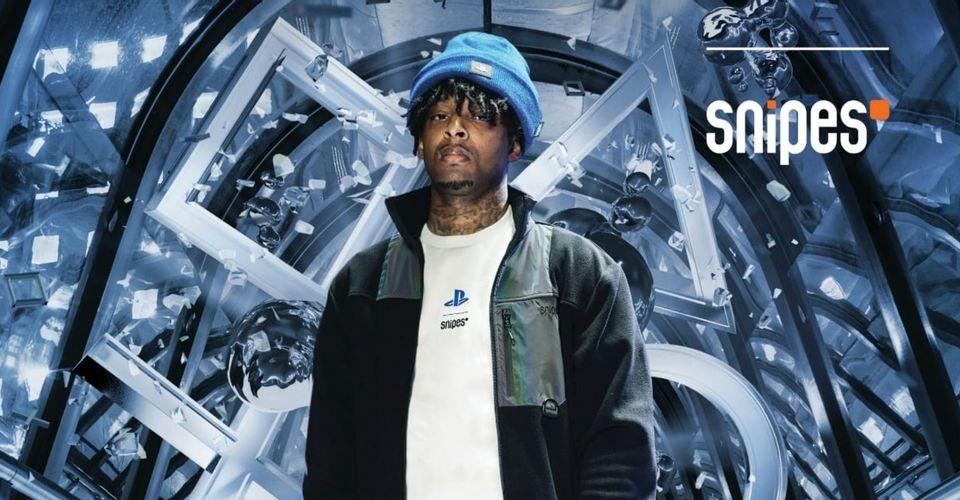 PlayStation Clothing Collection Modeled by 21 Savage