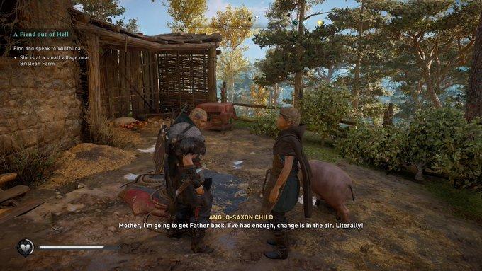 Assassin's Creed Valhalla Bug Makes Children Huge