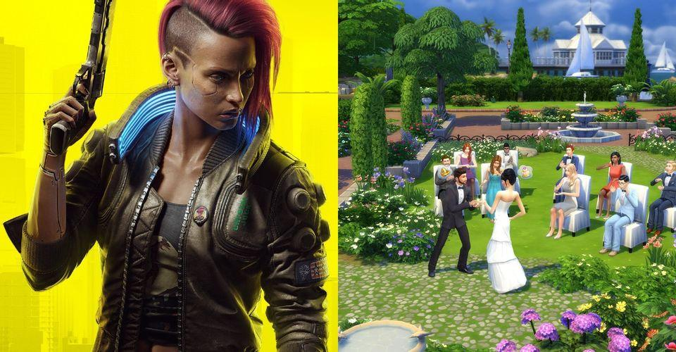 The Sims 4 Mod Lets Sims Play Cyberpunk 2077