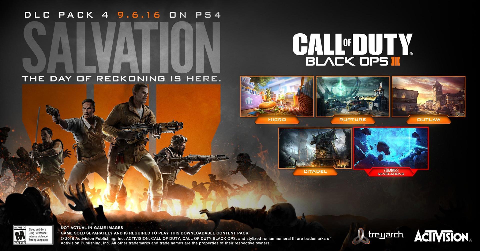 CALL OF DUTY BLACK OPS 3 SALVATION DLC + UPDATE 17 DOWNLOAD